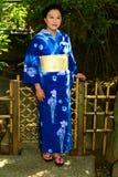 Japanese Woman Wearing Yukata Stock Image