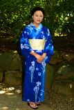 Japanese Woman Wearing Yukata Stock Photos