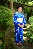 Japanese Woman Wearing Yukata Royalty Free Stock Image