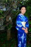 Japanese Woman Wearing Yukata Royalty Free Stock Images