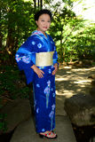 Japanese Woman Wearing Yukata Stock Photography