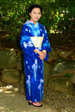 Japanese Woman Wearing Yukata Royalty Free Stock Image