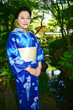 Japanese Woman Wearing Yukata Stock Image