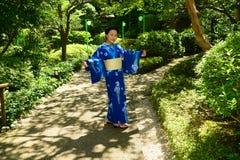 Japanese Woman Wearing Yukata Stock Photography