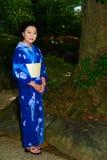 Japanese Woman Wearing Yukata Royalty Free Stock Photos