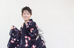 Japanese woman in a yukata Stock Photo