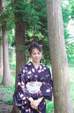 Japanese woman in a yukata Stock Images