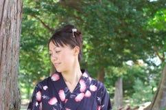 Japanese woman in a yukata Royalty Free Stock Photos