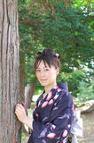 Japanese woman in a yukata Stock Photography