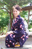 Japanese woman in a yukata Royalty Free Stock Photography