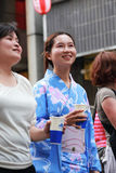 Japanese woman in yukata suit Royalty Free Stock Photo