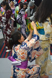 Japanese women dressing kimono Royalty Free Stock Photos