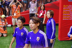 Japanese women football players Royalty Free Stock Photography