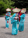 Japanese women group. Japanese women gropu dancing during a summer festival in Sendai,Japan-Aoba Dori Matsuri Stock Image