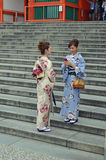 Japanese Women in Kimonos Royalty Free Stock Photography