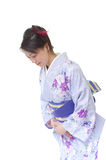 Japanese womoan in a Kimono Royalty Free Stock Image