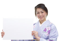 Japanese womoan in a Kimono Stock Image