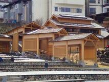 Japanese wood architecture royalty free stock photos