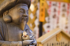 Japanese wood sculpture Stock Photography