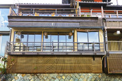 Japanese wood terrace house Royalty Free Stock Images