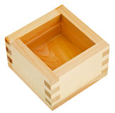 Japanese wooden box masu with sake Stock Photos