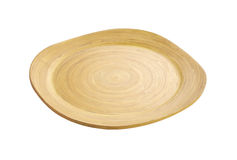 Japanese wooden dish. On white background royalty free stock images