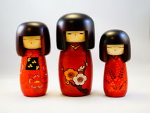 Japanese wooden doll Kokeshi Royalty Free Stock Images