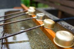 Japanese wooden ladle Royalty Free Stock Image
