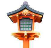 Japanese wooden lantern isolated Stock Images