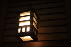 Japanese wooden lantern Royalty Free Stock Photo