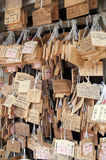 Japanese Wooden Prayer Plaques (Ema) Stock Images
