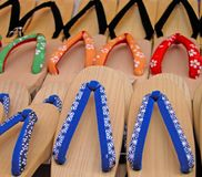 Japanese wooden slippers Royalty Free Stock Photography