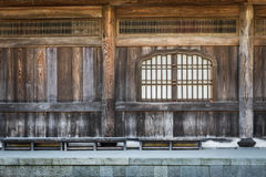 Japanese wooden temple interior details Stock Images