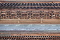 Japanese wooden temple interior details Stock Photography