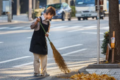 Japanese worker on a street Stock Photography