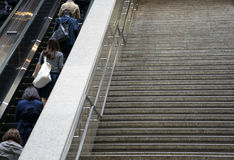 Japanese workers go up the stairs. Stock Photography