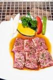 Japanese yakiniku wagyu beef royalty free stock image