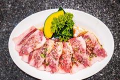 Japanese yakiniku wagyu beef stock image