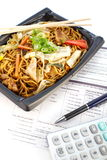 Japanese Yakisoba on working time Stock Images