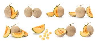 Japanese yellow melon fruit Stock Photo