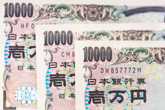 Japanese yen banknotes Stock Photos
