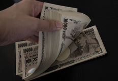 Japanese Yen bill Stock Photography
