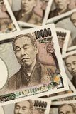 Japanese yen bills. Stock Photos