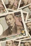 Japanese yen bills. stock photos