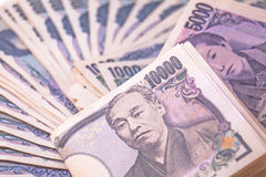 Japanese Yen bills Royalty Free Stock Photos