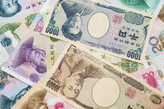 Japanese yen and Chinese Yuan Royalty Free Stock Images