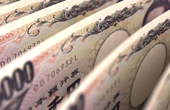 Japanese Yen Close up Stock Photography