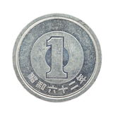 1 japanese yen coin Royalty Free Stock Photography