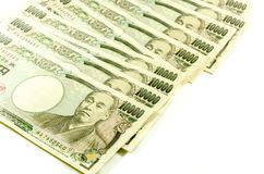 Japanese Yen for commercial on white background Stock Photo