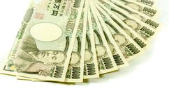 Japanese Yen for commercial on white background Stock Images